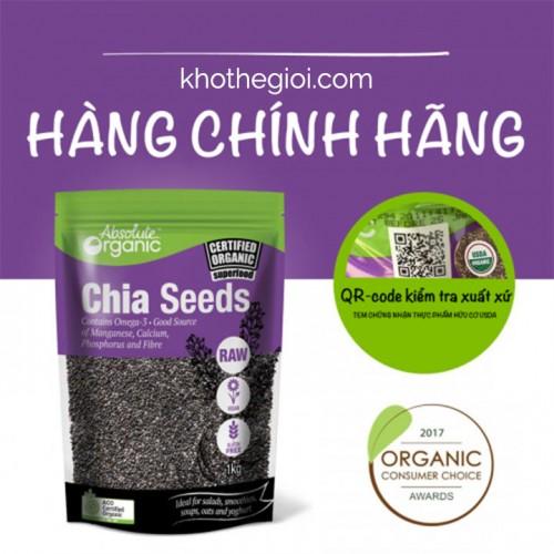 Hạt chia Seeds Absolute Organic úc loại 1 kg