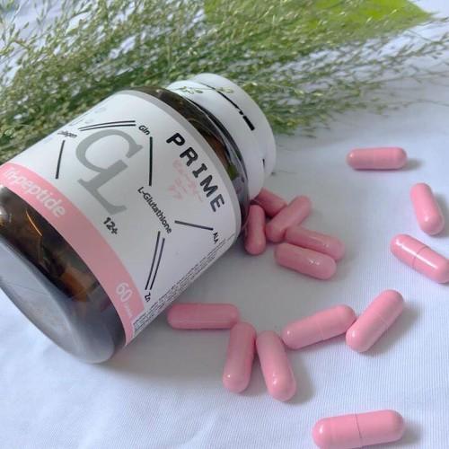 Viên uống trị mụn trắng da CL Collagen by Prime dạng hủ 60 viên