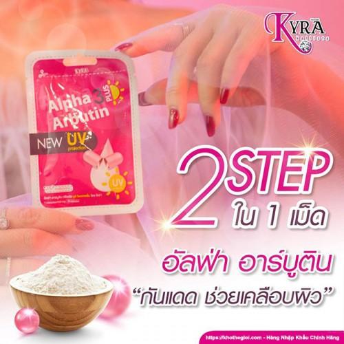 Viên bột kích trắng Body Alpha Arbutin 3 Plus New UV Protection Thái Lan