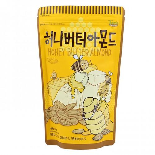 Hạnh nhân tẩm bơ mật ong Tom's Farm hàn quốc