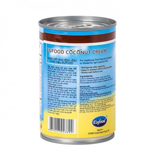 Nước cốt dừa đậm đặc Eufood thái lan 400ml